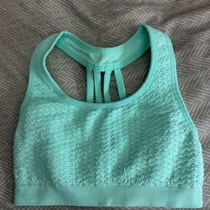 Turquoise color sports bra